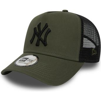 Cappellino trucker verde League Essential A Frame di New York Yankees MLB di New Era
