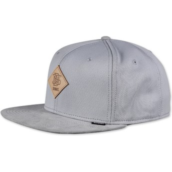 Cappellino 6 pannelli grigio snapback Dryknit di Djinns