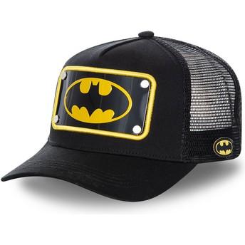 Cappellino trucker nero con placca logo Batman BATP5 DC Comics di Capslab