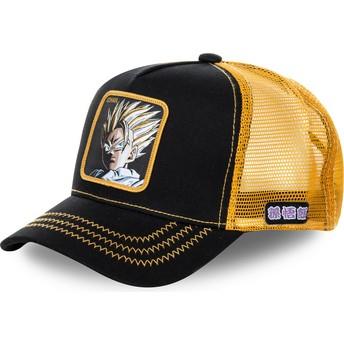 Cappellino trucker nero e giallo Son Gohan Super Saiyan 2 DBZSUP Dragon Ball di Capslab