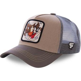 Cappellino trucker marrone Diavolo di Tasmania TAZ3 Looney Tunes di Capslab