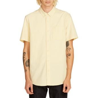 Camicia maniche corte gialla Everett Oxford Lime di Volcom