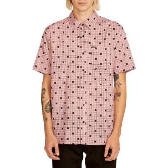Camicia maniche corte rosa Crossed Up Light Mauve di Volcom