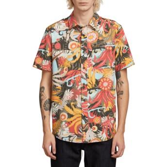 Camicia maniche corte multicolore Psych Floral Army di Volcom