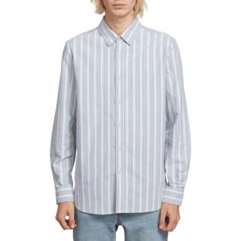 Camicia maniche lunghe blu Vert Toner Wrecked Indigo di Volcom