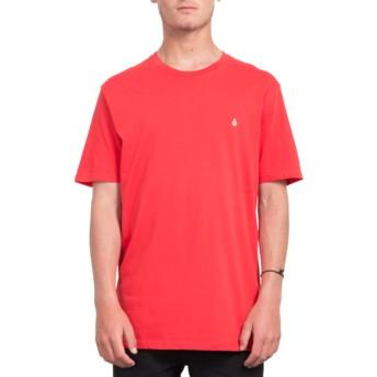 Maglietta maniche corte rossa Stone Blank True Red de Volcom