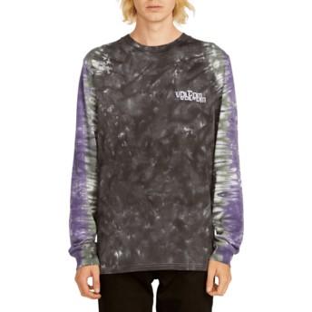 Maglietta maniche lunghe nera e viola Computer Crash Black de Volcom