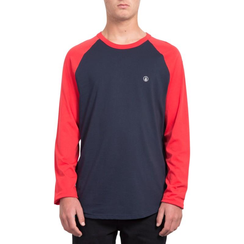 reputable site 55e38 04725 Maglietta maniche lunghe nera e rossa Pen True Red de Volcom