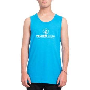 Maglietta senza maniche blu Super Clean Cyan Blue di Volcom