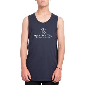 Maglietta senza maniche blu marino Super Clean Navy di Volcom