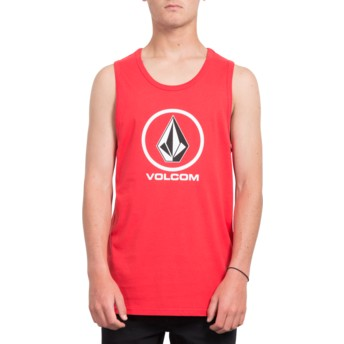 Maglietta senza maniche rossa Crisp Stone True Red di Volcom
