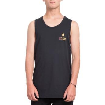 Maglietta senza maniche nera Peace Is Progess Black di Volcom