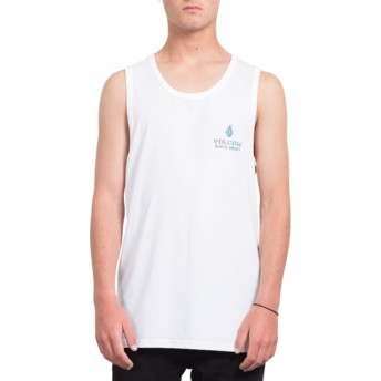 Maglietta senza maniche bianca Peace Is Progess White di Volcom