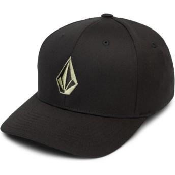 Cappellino visiera curva nero aderente Full Stone Xfit Dusty Green di Volcom