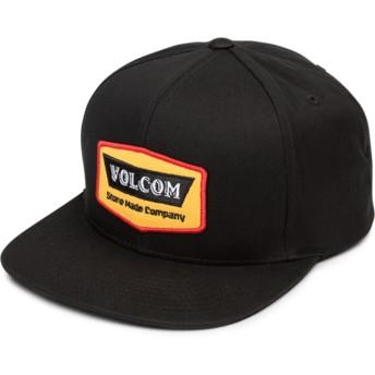 Cappellino visiera piatta nero snapback Cresticle Yellow di Volcom