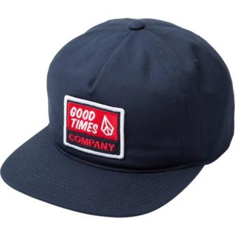 Cappellino visiera piatta blu marino snapback Righteous Indigo di Volcom