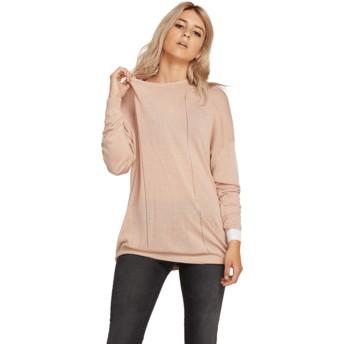 Maglione rosa Simply Stone Knit Mushroom di Volcom