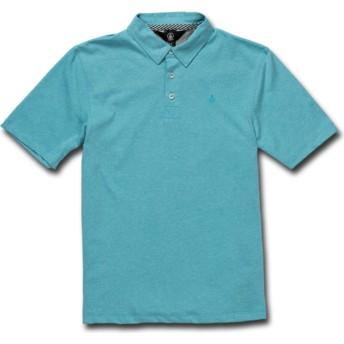 Polo maniche corte blu per bambino Wowzer Cyan Blue di Volcom