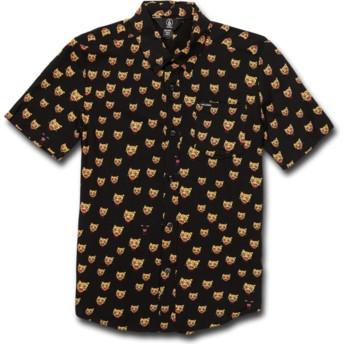 Camicia maniche corte nera per bambino Ozzie Cat Black di Volcom
