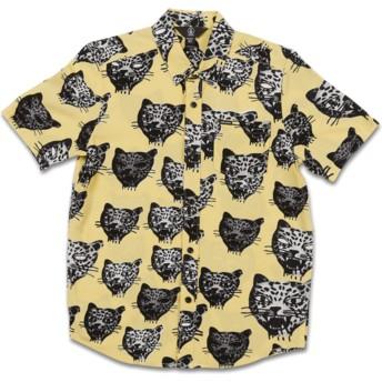 Camicia maniche corte gialla per bambino Ozzie Cat Lime di Volcom
