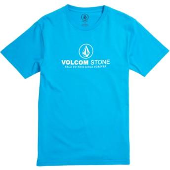 Maglietta maniche corte blu per bambino Super Clean Division Cyan Blue de Volcom