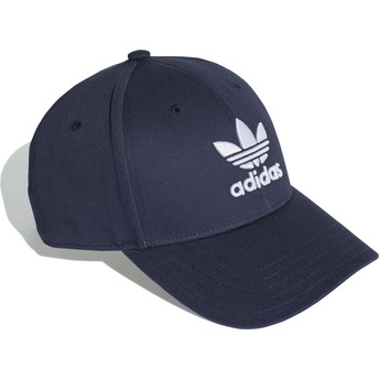 Cappellino visiera curva blu marino regolabile Trefoil Baseball di Adidas