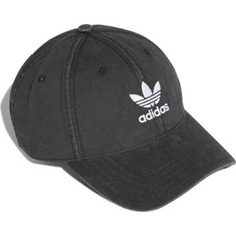 Cappellino visiera curva nero regolabile Washed Adicolor di Adidas