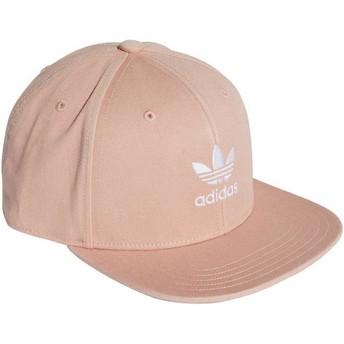 Cappellino visiera piatta rosa snapback Trefoil Adicolor di Adidas