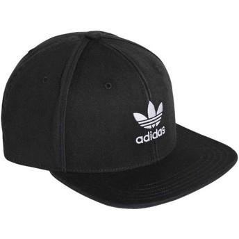 Cappellino visiera piatta nero snapback Trefoil Adicolor di Adidas