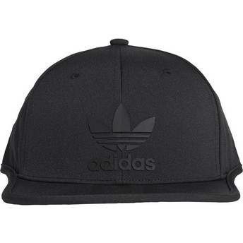 Cappellino visiera piatta nero snapback 3 Stripes di Adidas