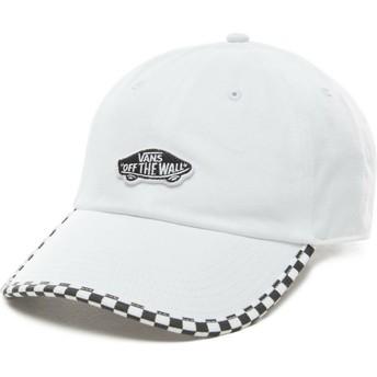 Cappellino visiera curva bianco regolabile Check It di Vans