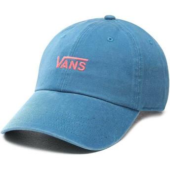 Cappellino visiera curva blu regolabile Court Side di Vans