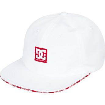Cappellino visiera piatta bianco regolabile Sandwich di DC Shoes