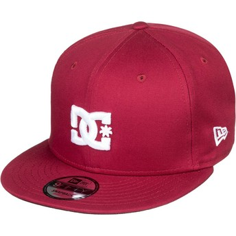 Cappellino visiera piatta bordeaux snapback Empire Fielder di DC Shoes