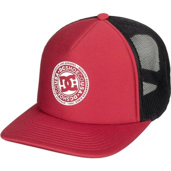 Cappellino trucker rosso e nero Vested Up di DC Shoes