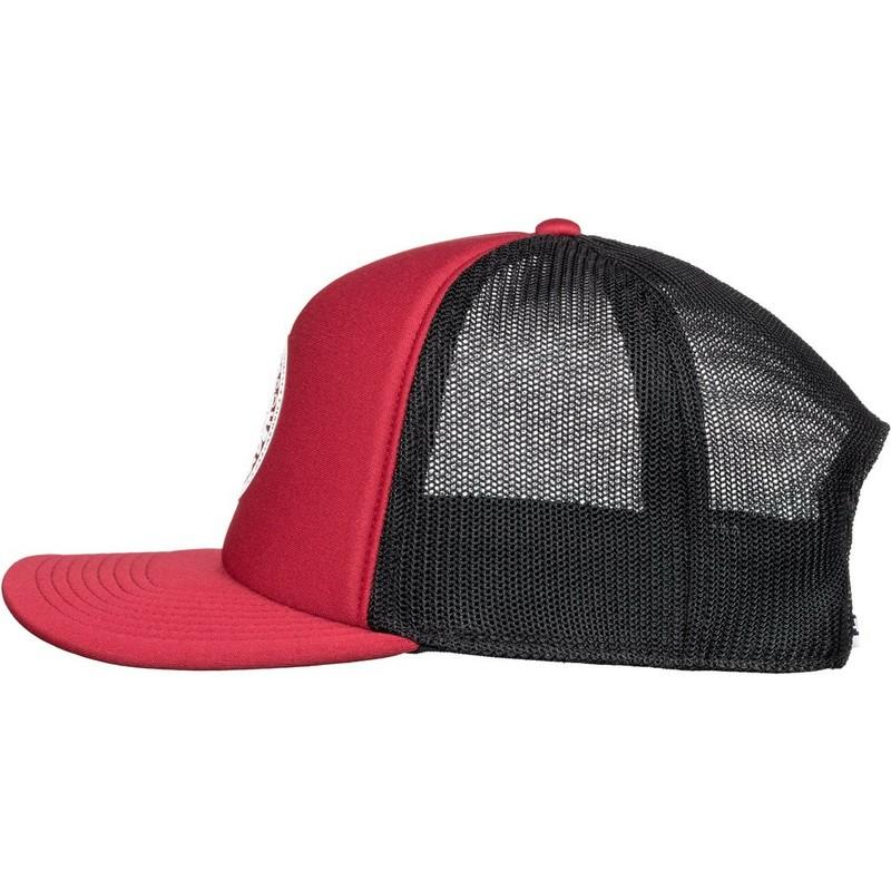 wholesale dealer 26e45 aff49 Cappellino trucker rosso e nero Vested Up di DC Shoes