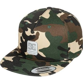 Cappellino visiera piatta mimetico snapback Snapdragger di DC Shoes