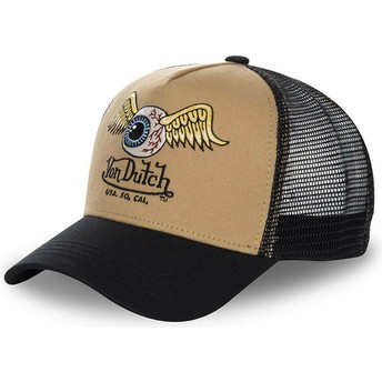 Cappellino trucker marrone e nero MOU di Von Dutch