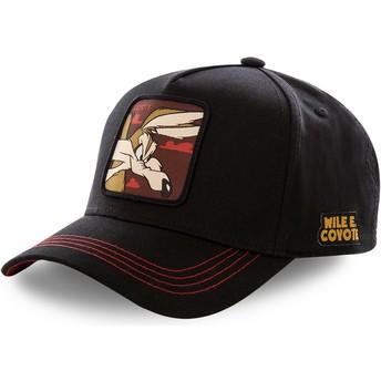 Cappellino visiera curva nero snapback Willy il Coyote COY3 Looney Tunes di Capslab