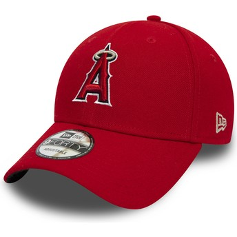 Cappellino visiera curva rosso regolabile 9FORTY The League di Anaheim Angels MLB di New Era