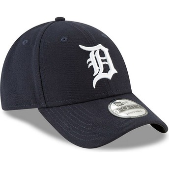 Cappellino visiera curva blu marino regolabile 9FORTY The League di Detroit Tigers MLB di New Era