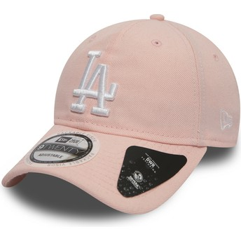 Cappellino visiera curva rosa regolabile 9TWENTY DryEra Packable di Los Angeles Dodgers MLB di New Era