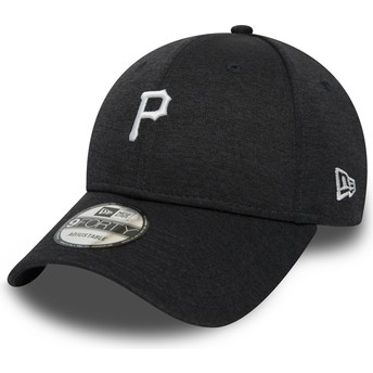 Cappellino visiera curva nero regolabile 9FORTY Shadow Tech di Pittsburgh Pirates MLB di New Era