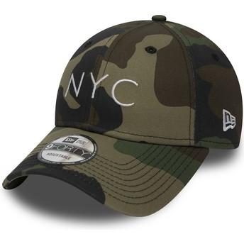 Cappellino visiera curva mimetico regolabile 9FORTY Essential NYC di New Era