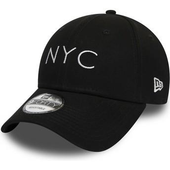 Cappellino visiera curva nero regolabile 9FORTY Essential NYC di New Era