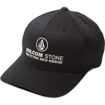 Cappellino visiera curva nero aderente Super Clean Xfit di Volcom