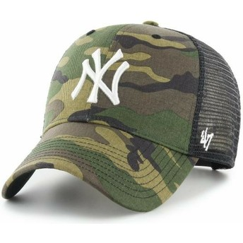 Cappellino trucker mimetico con logo bianco MVP Branson di New York Yankees MLB di 47 Brand