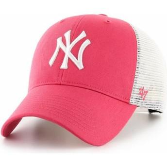 Cappellino trucker rosa MVP Flagship di New York Yankees MLB di 47 Brand
