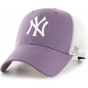 Cappellino trucker viola MVP Flagship di New York Yankees MLB di 47 Brand