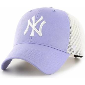 Cappellino trucker viola lavanda MVP Flagship di New York Yankees MLB di 47 Brand